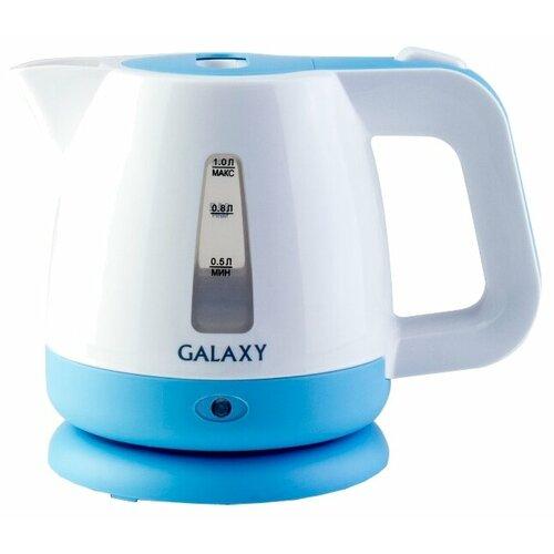 Чайник Galaxy GL0223, белый/голубой