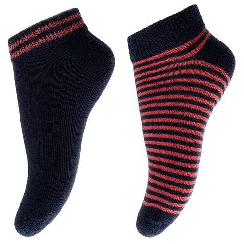 Носки playToday комплект из 2 пар, размер 14, черный/красный
