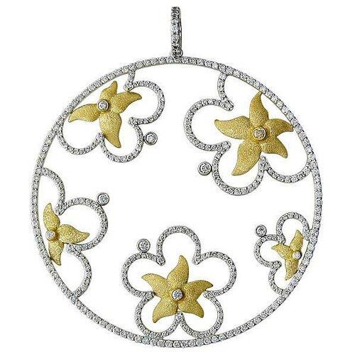 Эстет Подвеска с 348 бриллиантами из комбинированного золота 750 пробы 01П686057