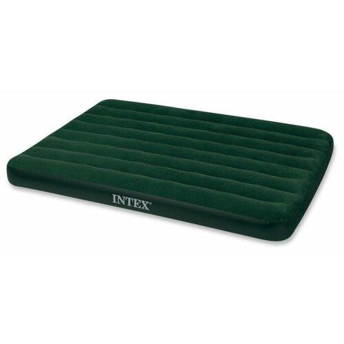 Надувной матрас Intex Prestige Downy Bed (66968) зеленый