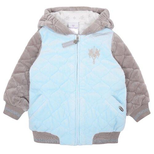 Куртка Мамуляндия размер 80, голубой/серый