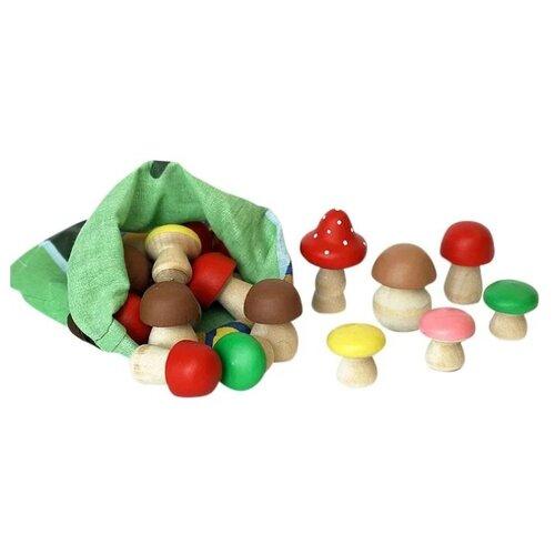 Счетный материал КЛИМО Набор деревянных грибов C42 (20 предметов)