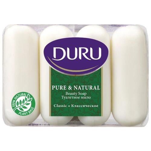 Мыло кусковое DURU Pure #and# natural Классическое, 4 шт., 85 г