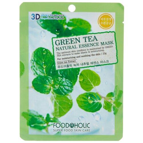 Тканевая 3D маска с натуральным экстрактом зеленого чая, 23 г