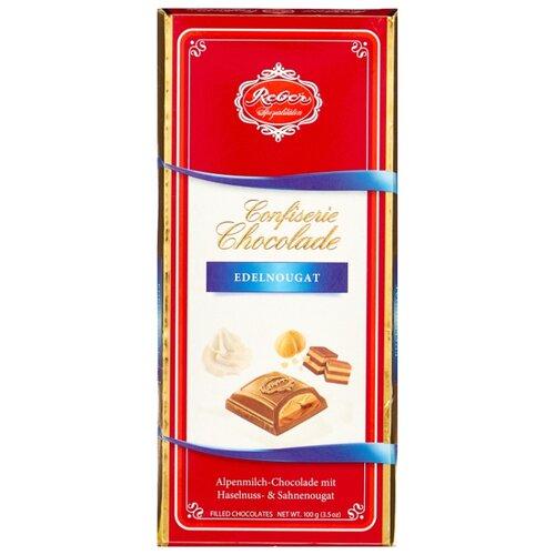 Шоколад Reber Молочный Nougat с ореховым пралине, 100 г