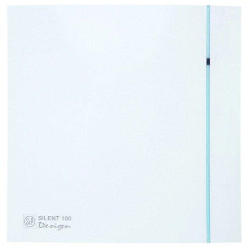 Вытяжной вентилятор Soler #and# Palau SILENT-100 CZ DESIGN 3C, белый 8 Вт