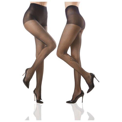 Колготки Le Cabaret 203803 40 den, размер 2-3, черный, 2 пары