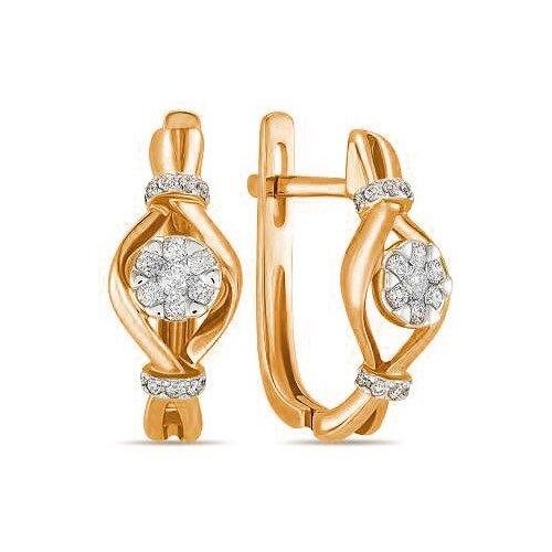 ЛУКАС Серьги с 36 бриллиантами из красного золота E01-D-ER010022ADI