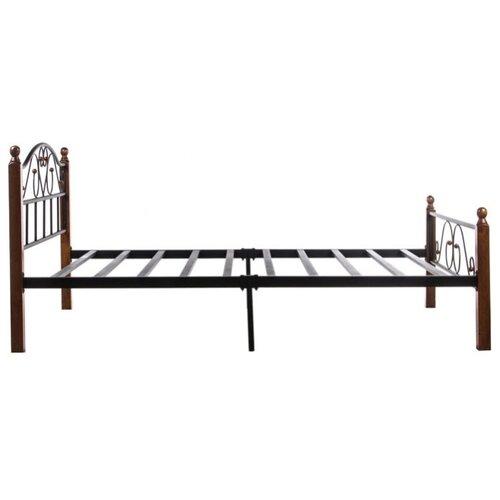 Кровать TetChair AT-815 двуспальная, размер (ДхШ): 210х147 см, спальное место (ДхШ): 200х140 см, каркас: массив дерева, цвет: коричневый/черный