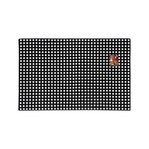 Придверный коврик VORTEX Профи ячеистый, размер: 1.5х1 м, черный