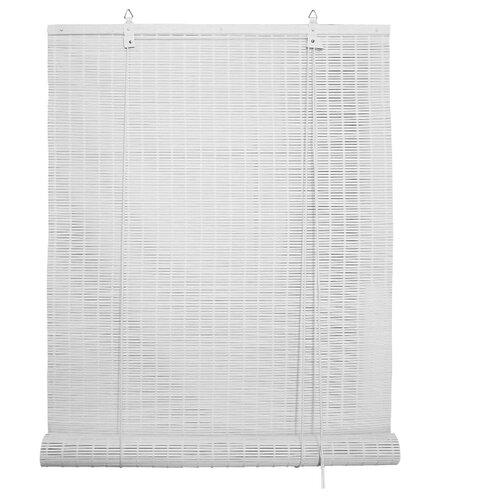 Рулонная штора Эскар бамбуковые (белый), 80х160 см