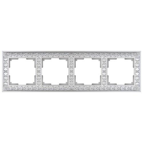 Рамка 4п Werkel WL07-Frame-04, жемчуг