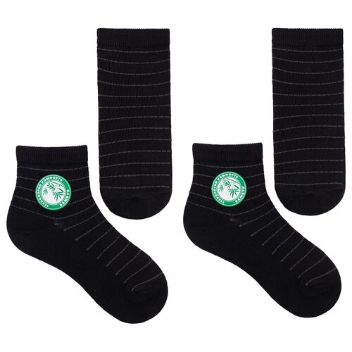 Носки НАШЕ комплект 2 пары размер 18 (16-18), черный