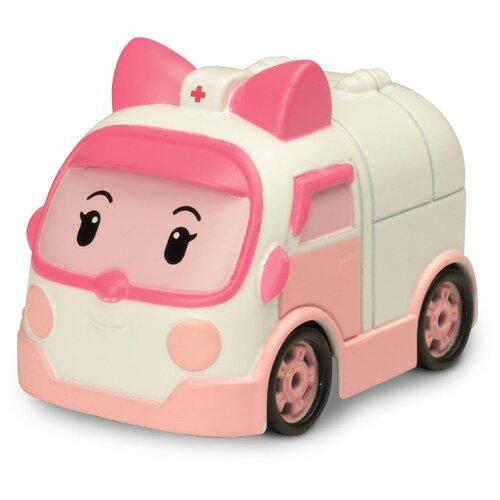 Машинка Silverlit Робокар Поли Эмбер (83163) 6 см белый/розовый