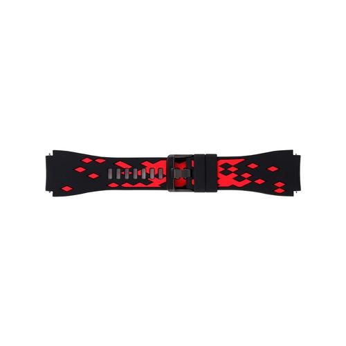 Ремешок силиконовый двухцветный для Galaxy Watch (46 мм)/Gear 3 красный/черный