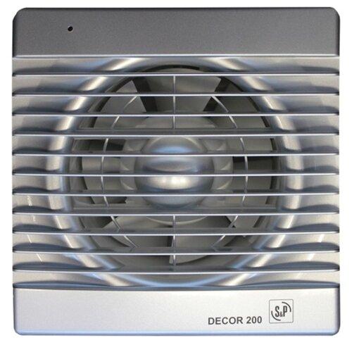 Вытяжной вентилятор Soler #and# Palau DECOR 200 C, silver 20 Вт