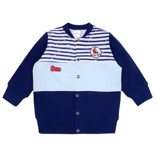 Куртка Мамуляндия размер 68, белый/синий