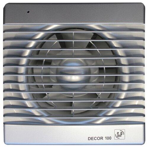 Вытяжной вентилятор Soler #and# Palau DECOR 100 C, silver 13 Вт