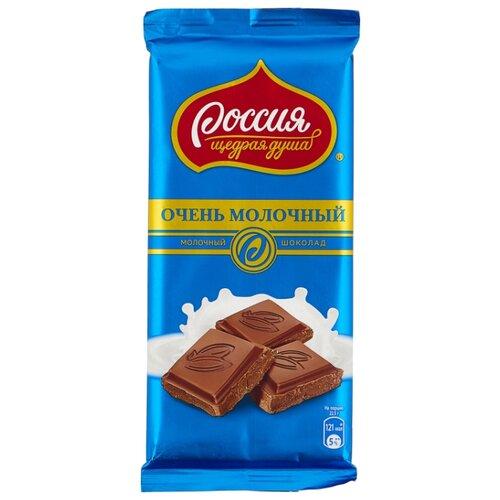 Шоколад Россия - Щедрая душа! Очень молочный, 90 г