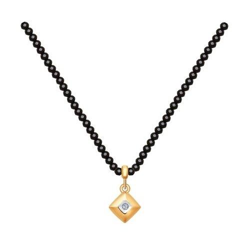 Колье из золота с бриллиантом 1070068, 50 см, 0.81 г