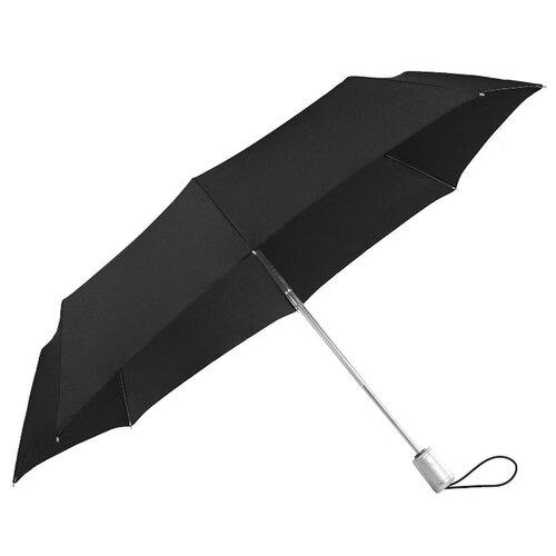 Зонт автомат Samsonite Alu Drop S (8 спиц, большая ручка) черный