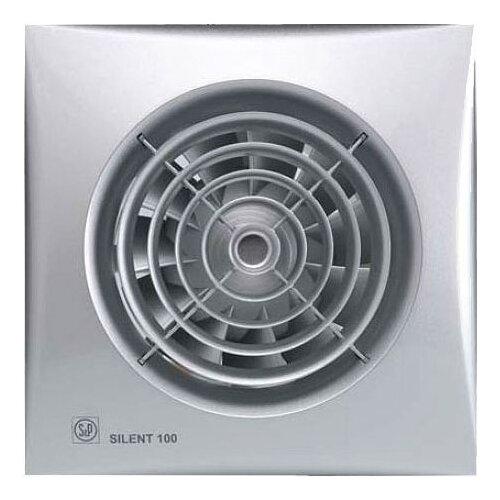 Вытяжной вентилятор Soler #and# Palau SILENT-100 CZ, silver 8 Вт