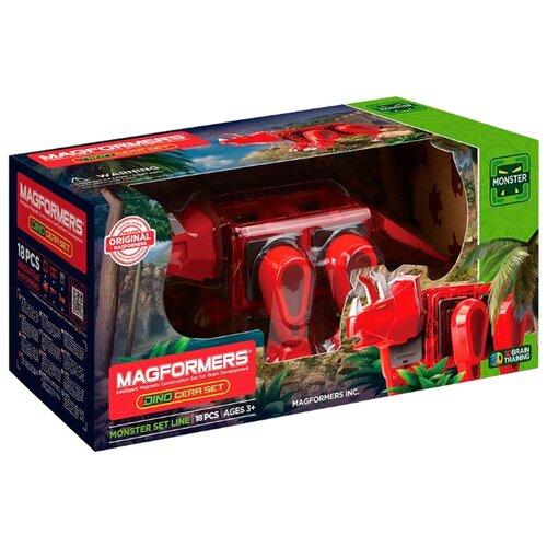 Магнитный конструктор Magformers Dino 716002 Динозавр Цера