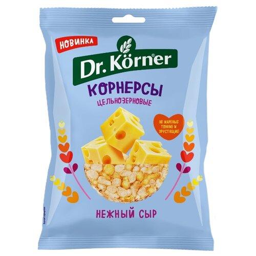 Чипсы Dr. Korner цельнозерновые кукурузно-рисовые корнерсы Нежный сыр, 50 г