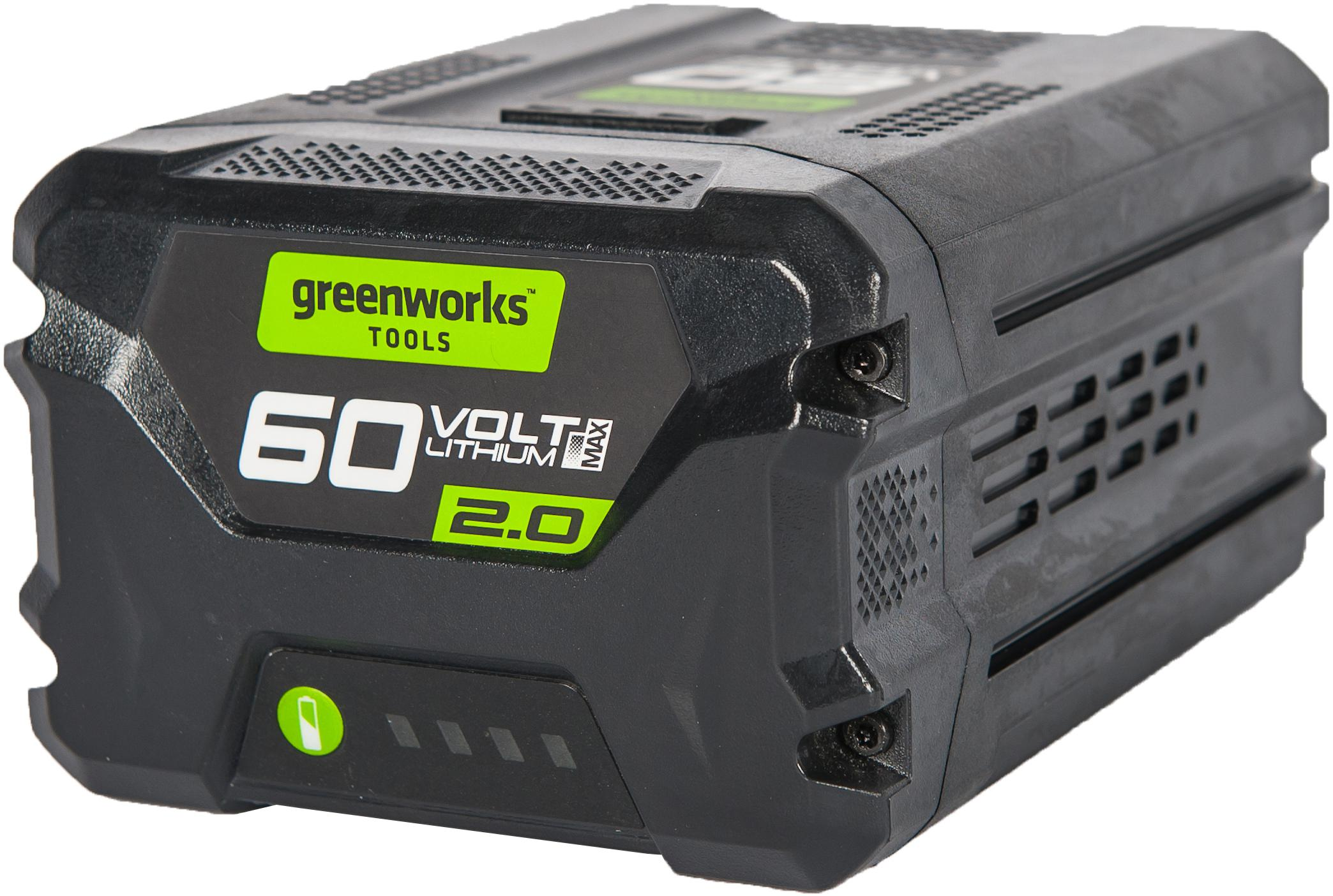 Аккумулятор Greenworks 60В 2Ач li-ion (g60b2 2918307 БЕЗ ЗУ)