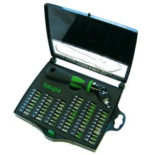 Отвертка с набором бит для точной работы HAUPA 104006