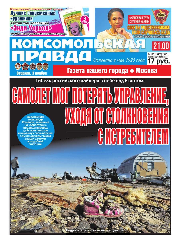 Комсомольская Правда. Москва 125-2015