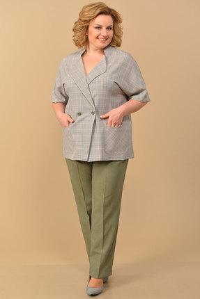 Комплект брючный Lady Style Classic 1403/1 хаки с серым