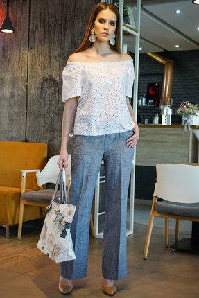 Комплект брючный Alani 1158 джинс с белым