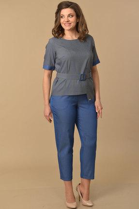 Комплект брючный Lady Style Classic 1979 серо-синий