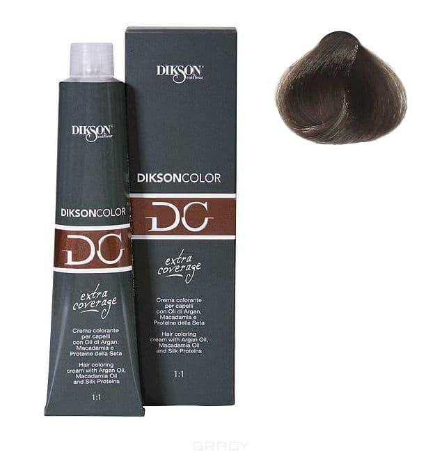 Стойкая парфюмированная крем-краска для волос Extra Coverage, 120 мл (8 оттенков) 122-07 7.11 Dikson color extra coverage 7C/E блондин пепельный