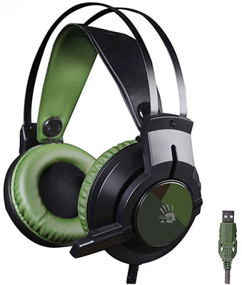 Аудио гарнитура игровая проводная A4Tech