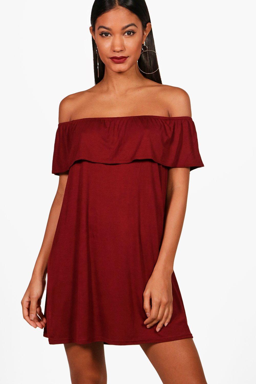 Открытыми плечами и Воздушное платье из джерси