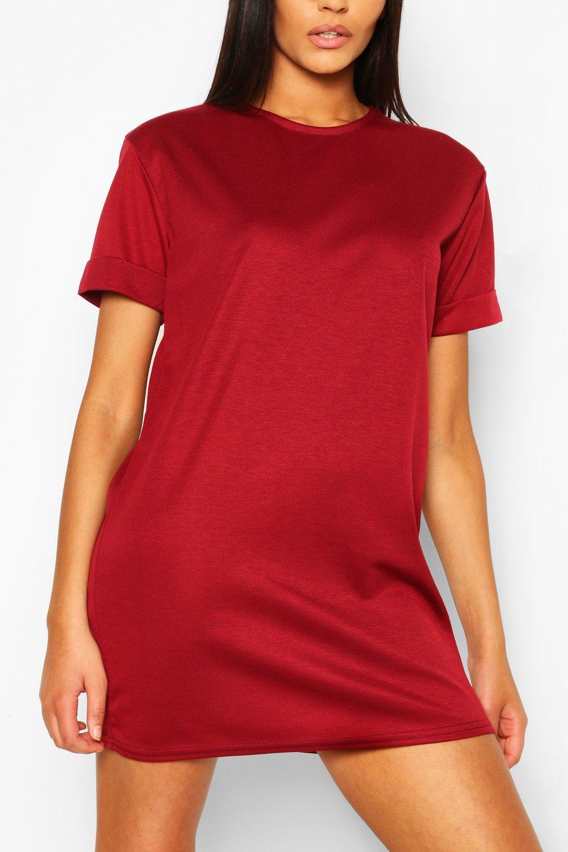 Платье-футляр из джерси понте с подвернутыми рукавами