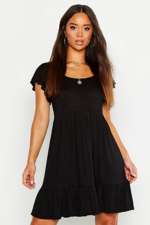 Платье-комбинация из джерси с оборками внизу