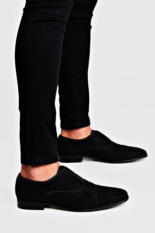 Бархатные туфли без шнурков
