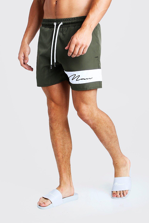 Фирменные плавательные шорты MAN со вставками