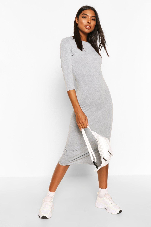Из коллекции «Tall»— Платье-футболка с разрезом внизу из джерси