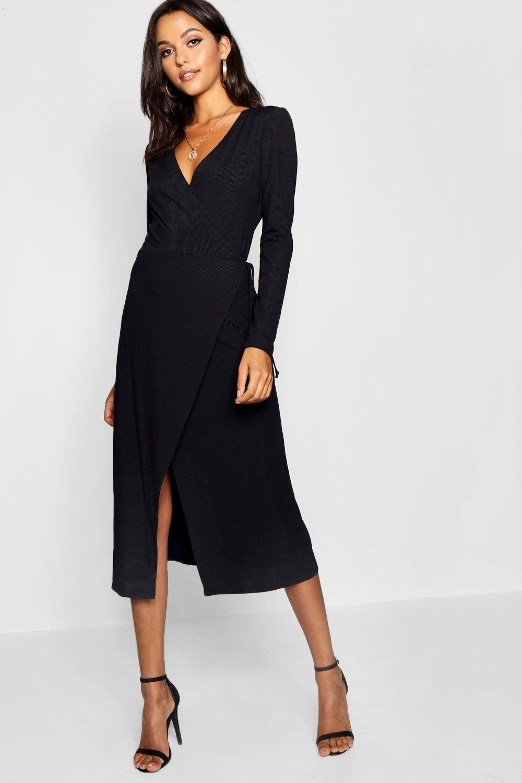 Платье из джерси на запах из ткани в рубчик из коллекции «Tall»