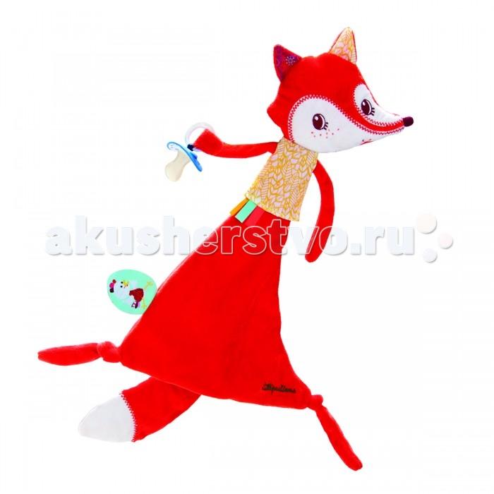 Комфортер Lilliputiens Лиса Алиса игрушка-обнимашка с держателем для пустышки