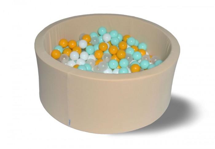 Сухой бассейн Ванильная дискотека 40 см с комплектом шаров 200 шт.