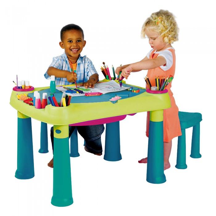 Стол Creative для детского творчества и игры с водой и песком + 2 табуретки