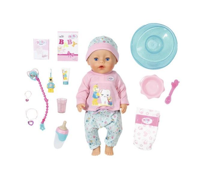 Кукла интерактивная Чистим зубки 43 см