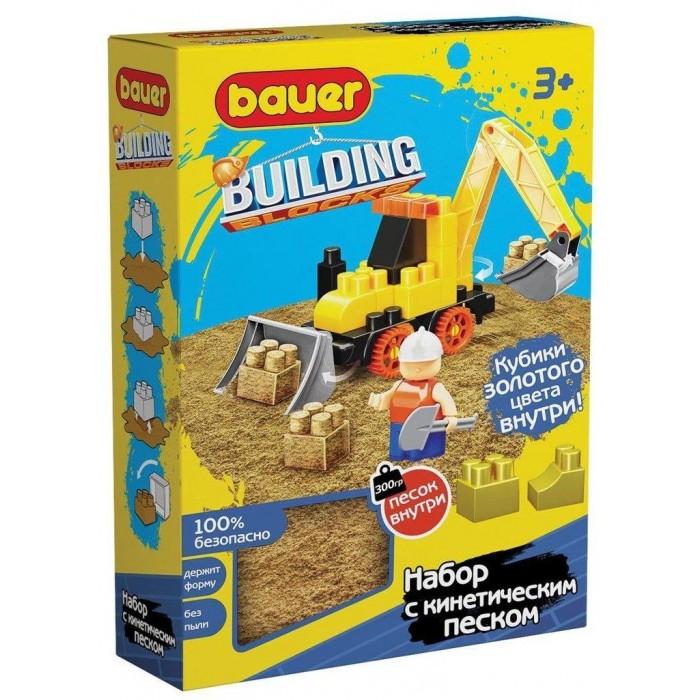 Конструктор Bauer Building Kinetic трактор и кинетический песок (30 элементов)