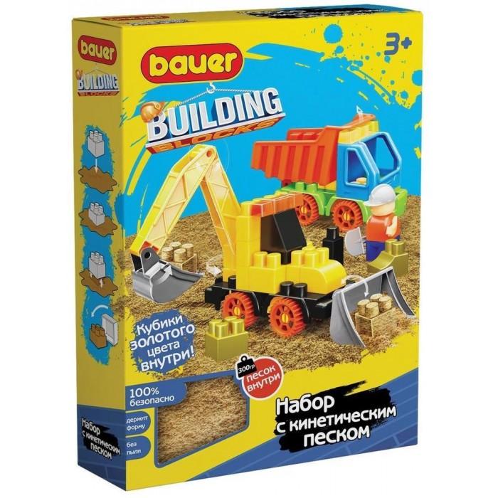 Конструктор Bauer Building Kinetic трактор, грузовик и кинетический песок (44 элемента)