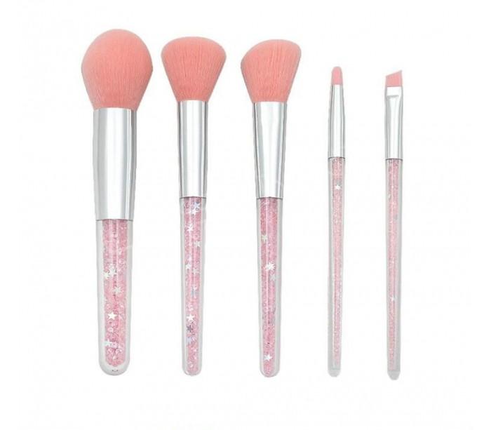 Набор кистей для макияжа Розовый блеск